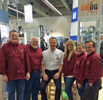 AMUG board and Stefan Ritt (ambassador) at Euromold 2014
