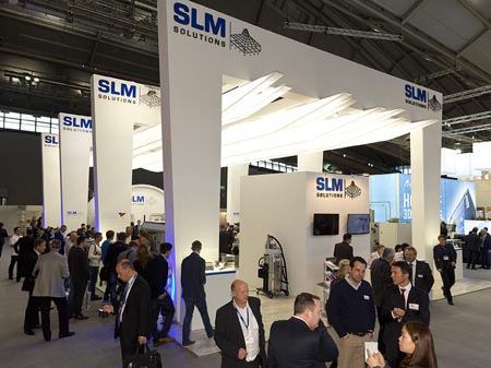 SLM Solutions' stand at formnext