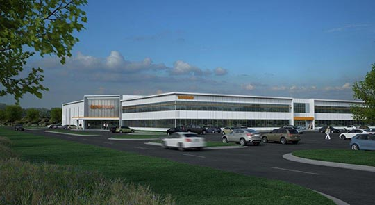 Renishaw Solutions Center, Chicago, Illinois (artist's rendering)