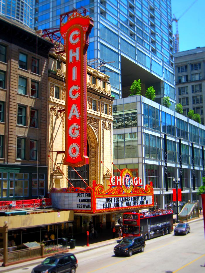 The iconic Chicago Theater
